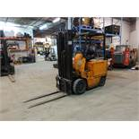 NISSAN, CYB02L20S, 48V, 4,000 LBS, 3 STAGE, ELECTRIC FORKLIFT, CHARGER, 6,304 HOURS (LOCATED AT 1-80
