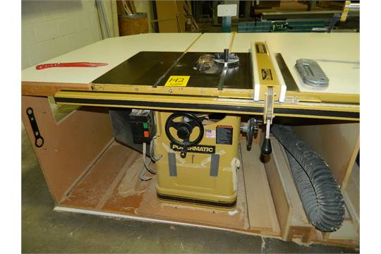 powermatic table saw w accu fence model 66 ta saw460 s n 04060661514 rh bidspotter com powermatic table saw 66 powermatic table saw 64a
