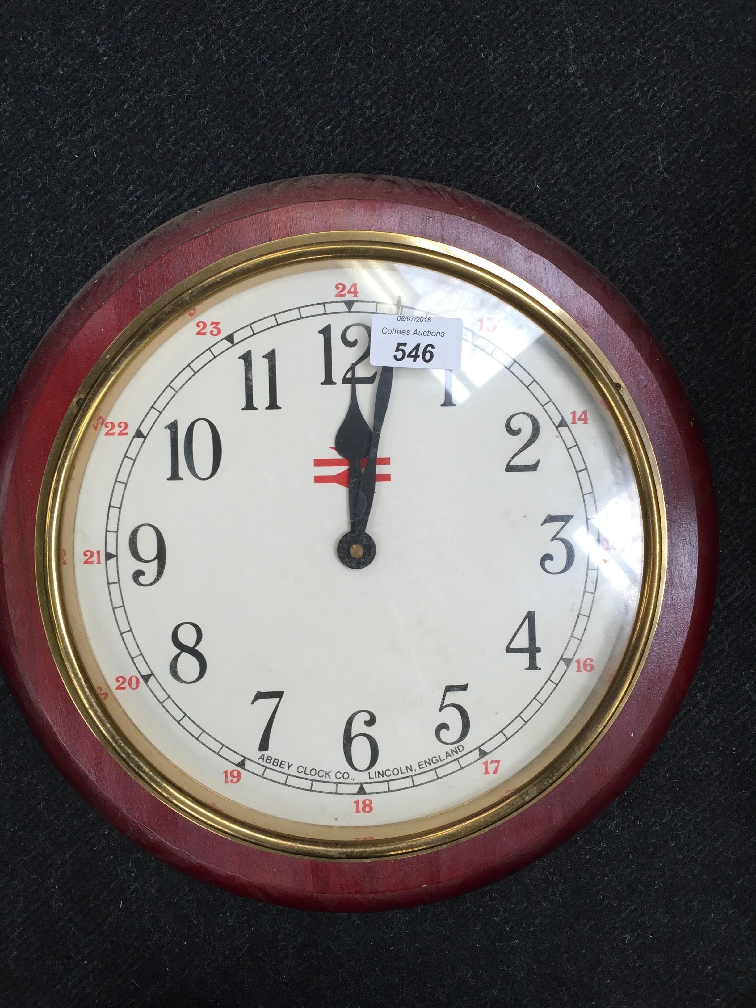 A late original british railways 13 in diameter battery operated lot 546 a late original british railways 13 in diameter battery operated clock made by amipublicfo Gallery