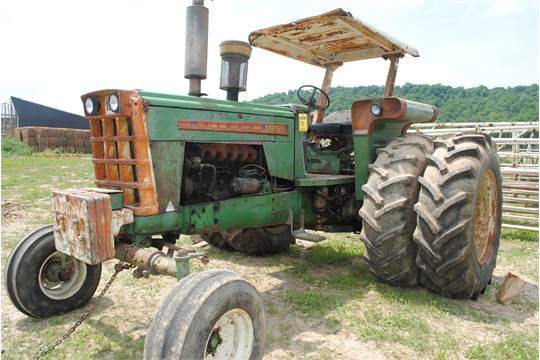 Oliver S Tractor Dual Wheels : Oliver tractor pto point hitch dual wheels over