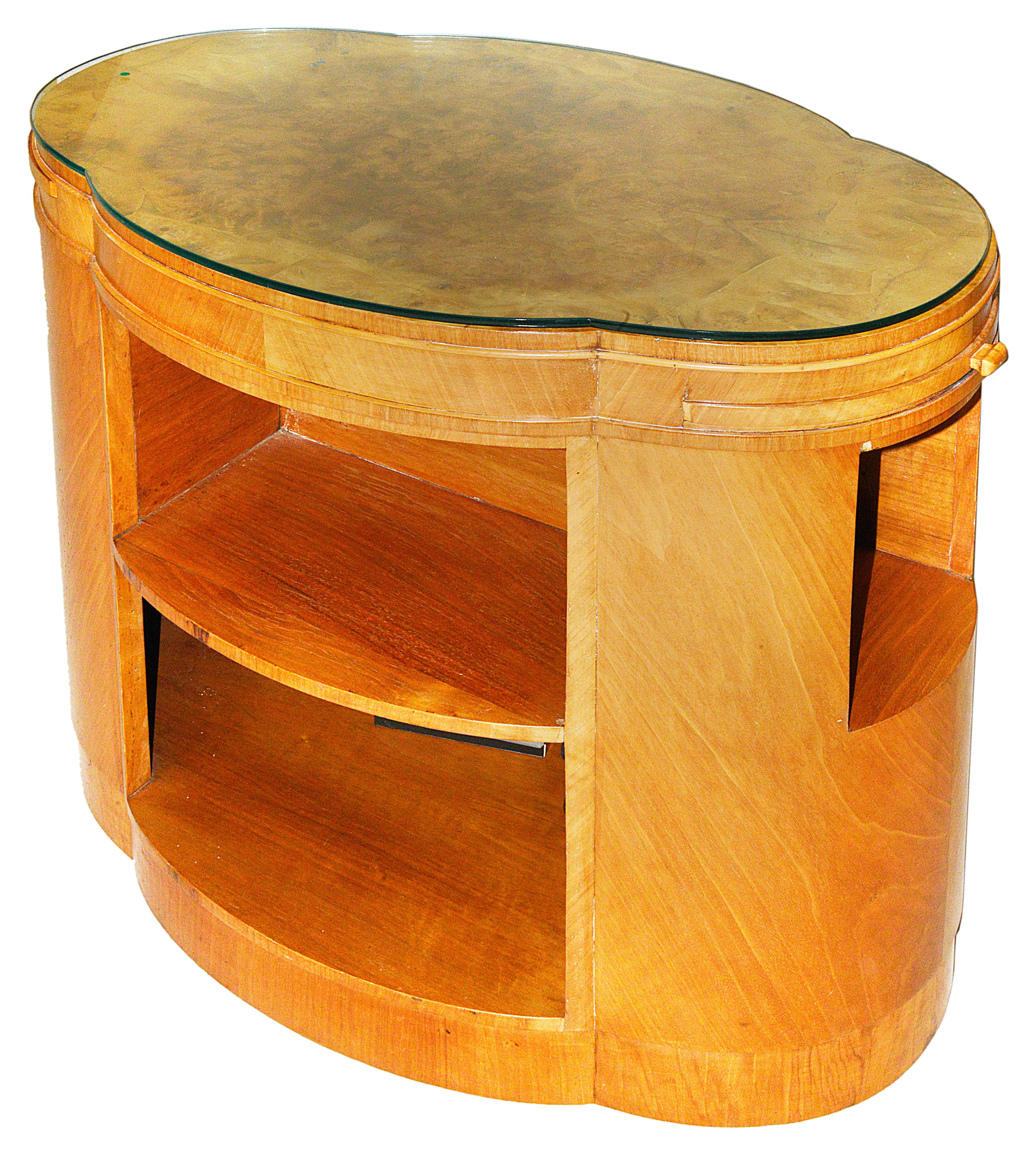 Lot 6 - An Art Deco walnut cloud occasional table c1930s