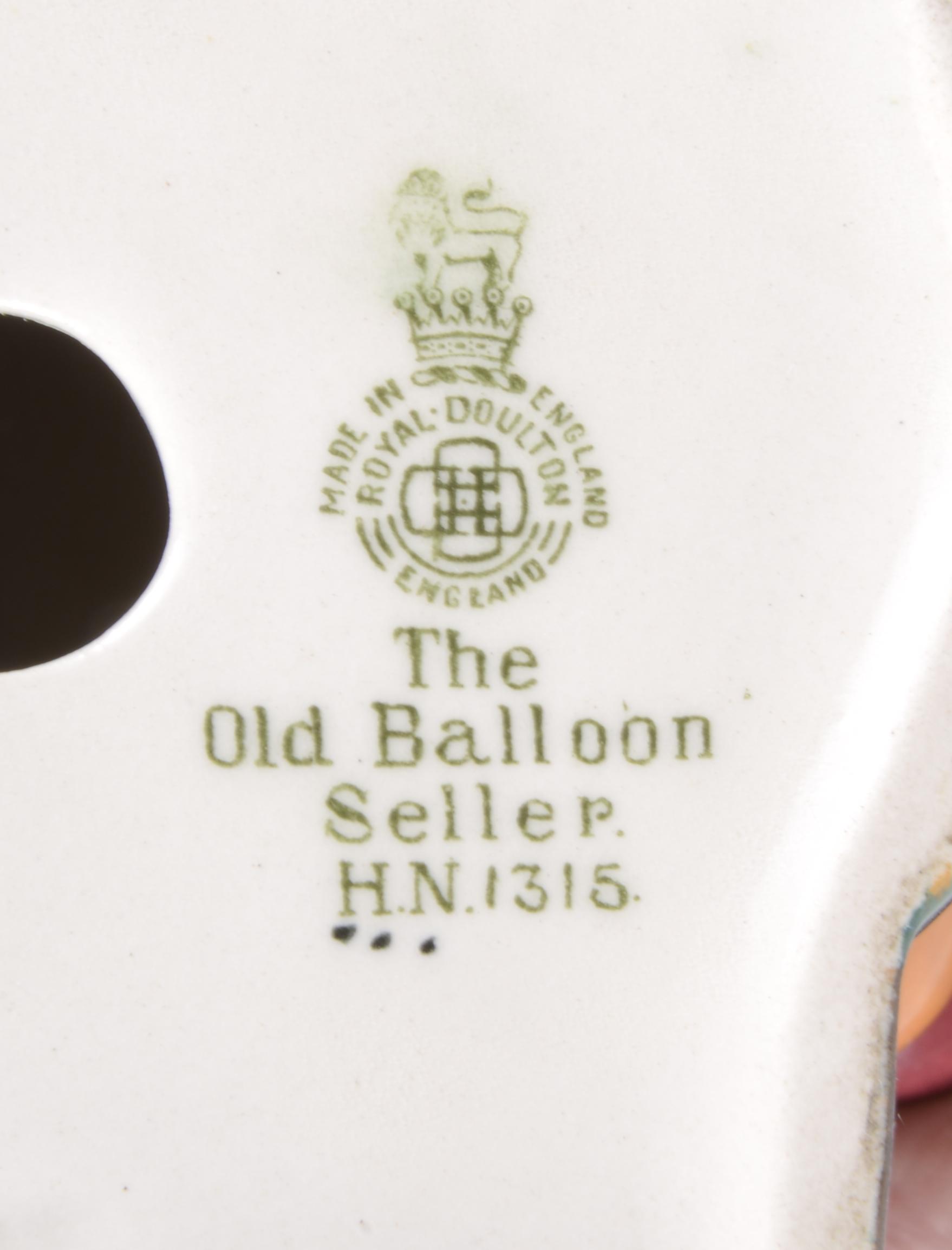 Lot 58 - A Royal Doulton 'The Old Balloon Seller' HN1315