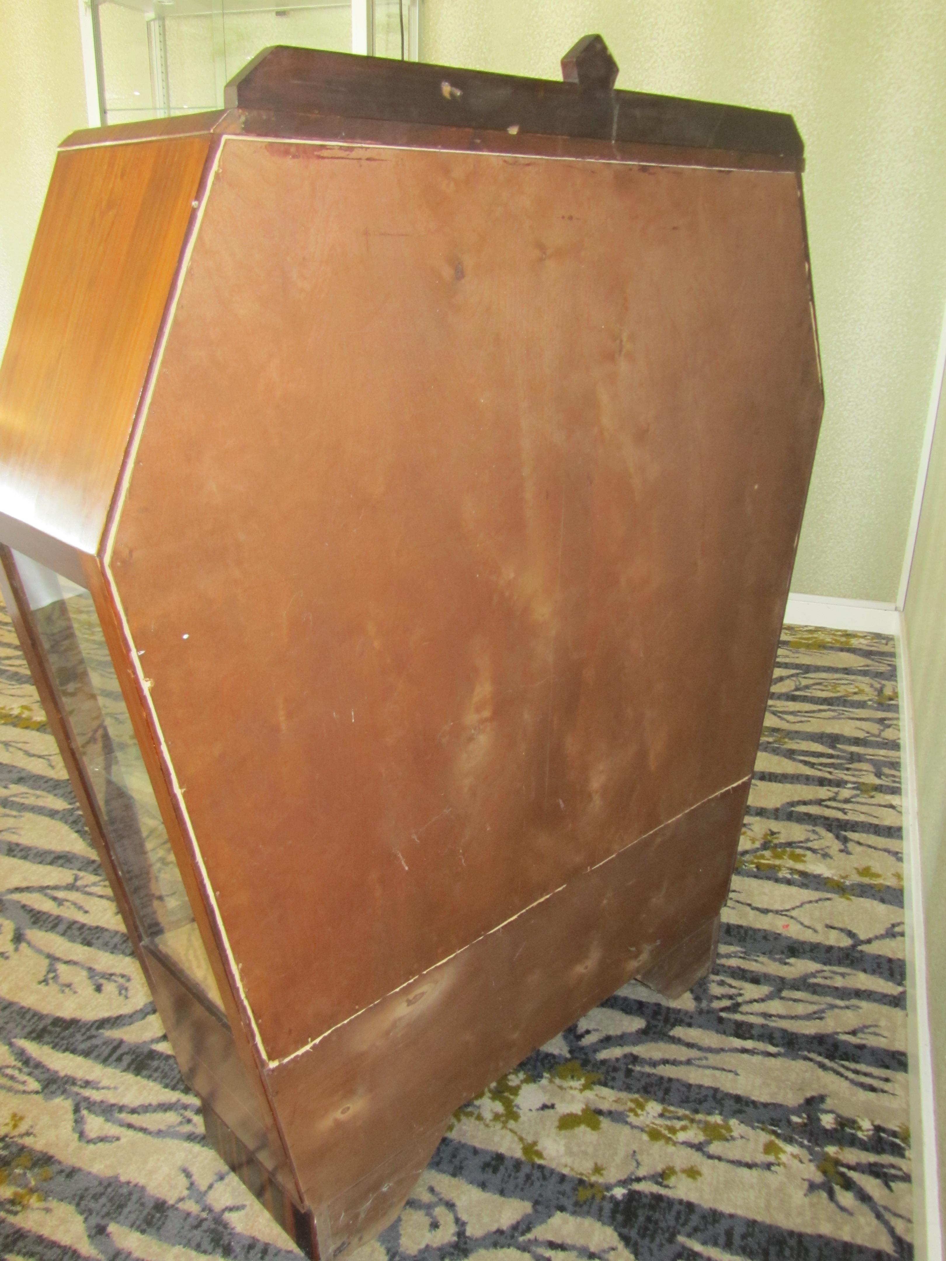 Lot 4 - An Art Deco mahogany display cabinet