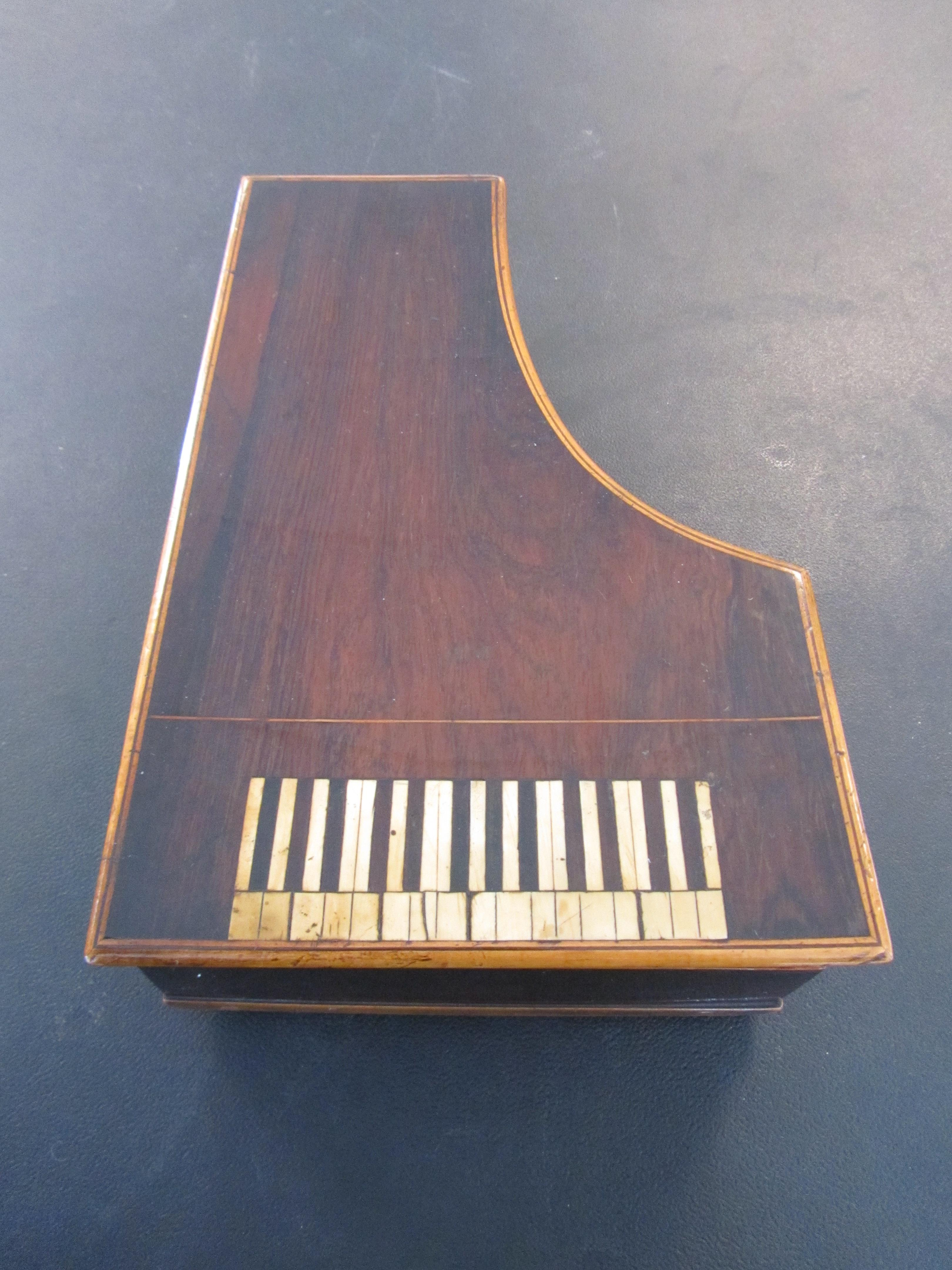 Lot 27 - A charming 19th century musical necessaire in the form of a grand piano