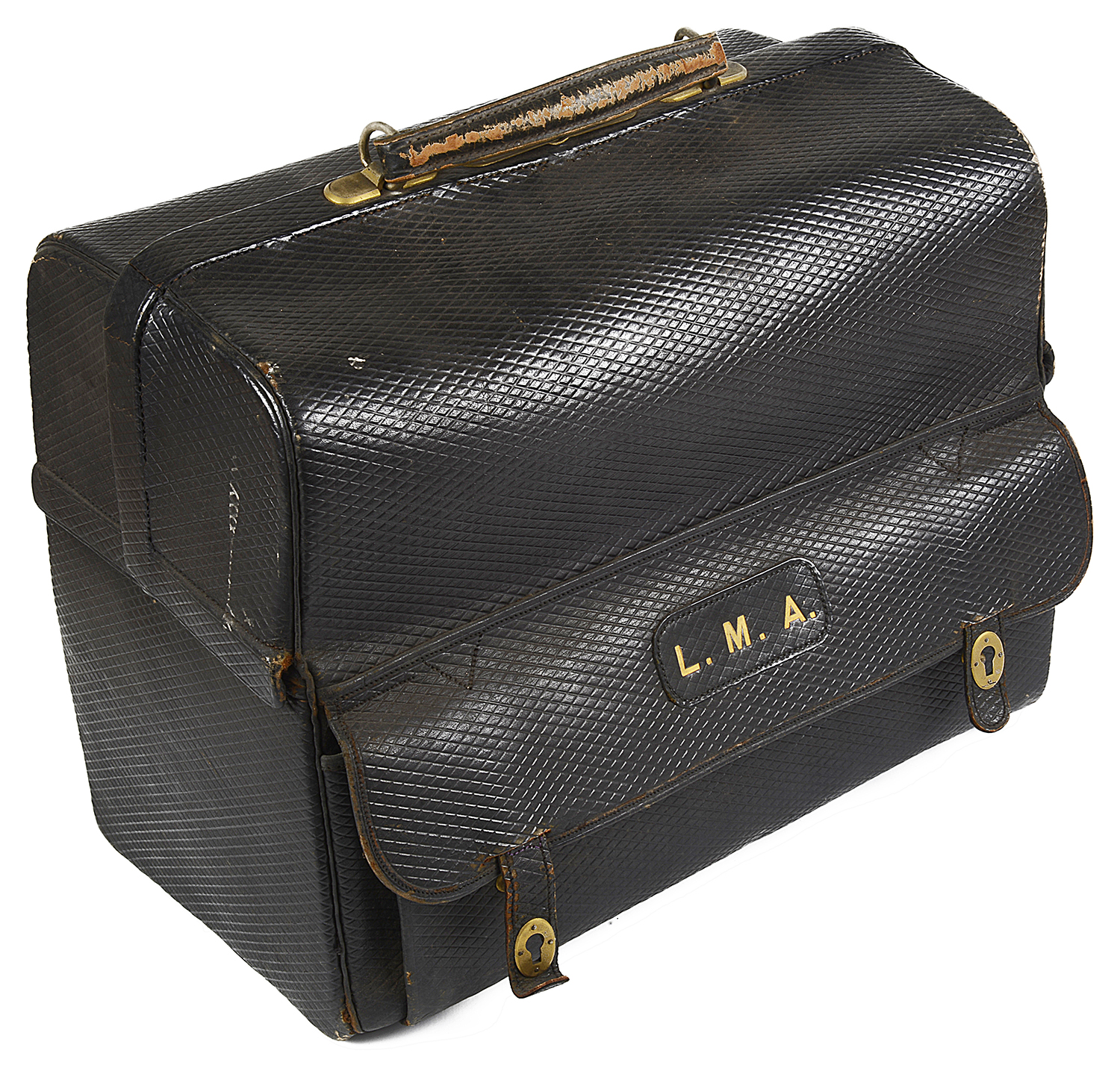 Lot 21 - A Mappin & Webb fitted leather travel case,
