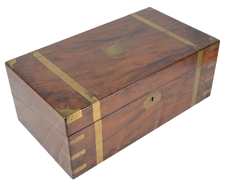 A Victorian mahogany writing slope,