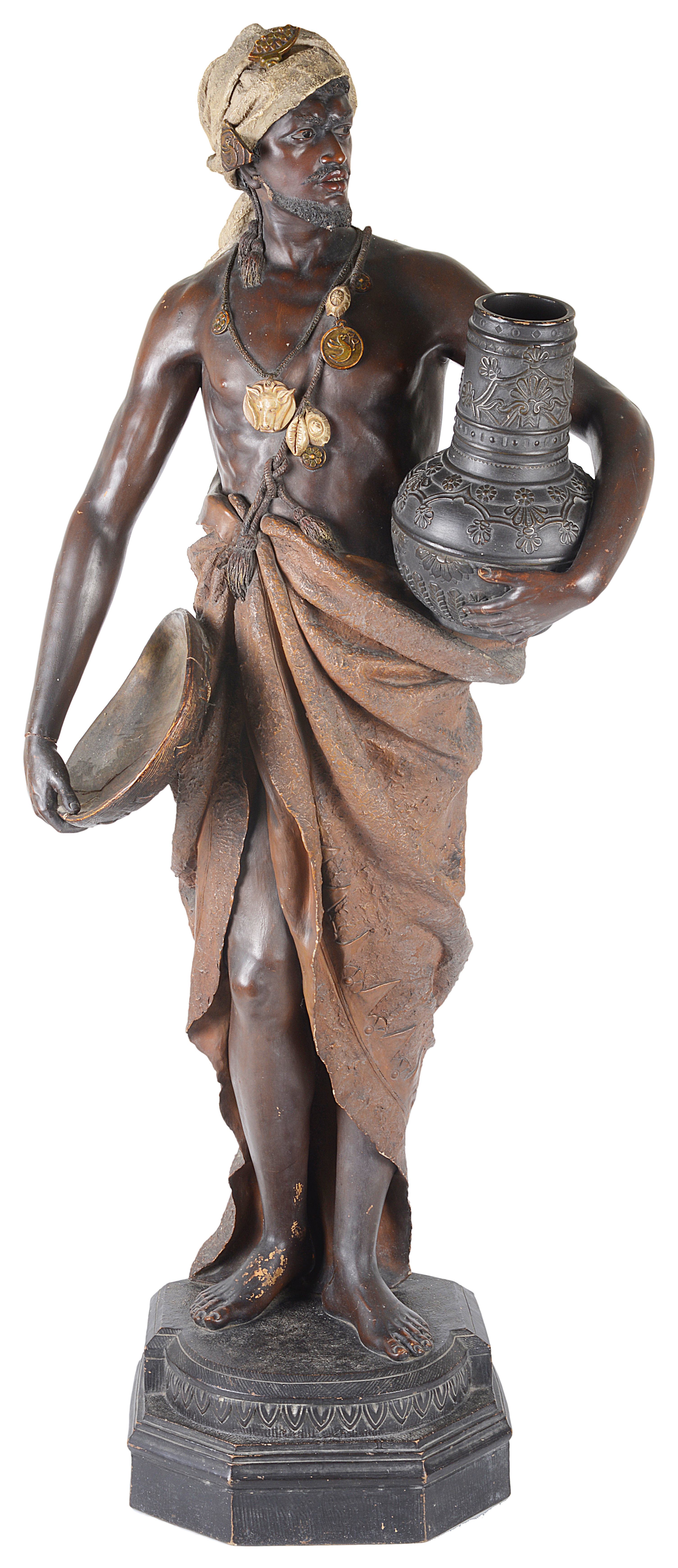 Lot 9 - An Austrian terracotta figure by Johann Maresch in Goldscheider style, late 19th/early 20th century