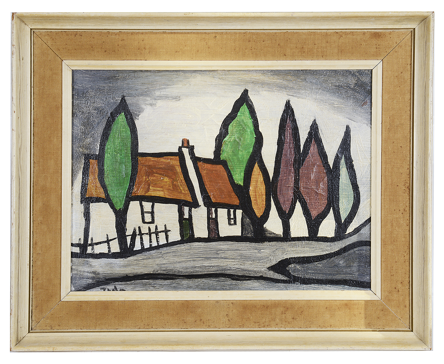 "Lot 42 - Irish School, style of J.P Rooney, 20th century ""Autumn Comes Donegal"""