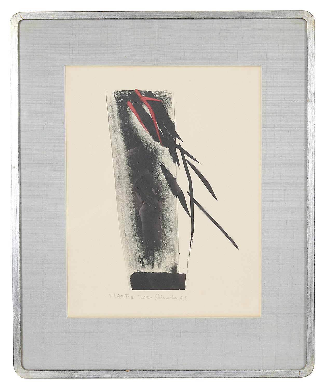 Lot 53 - Toko Shinoda (Japanese, b. 1913) 'Flame', Artist's Proof, lithograph