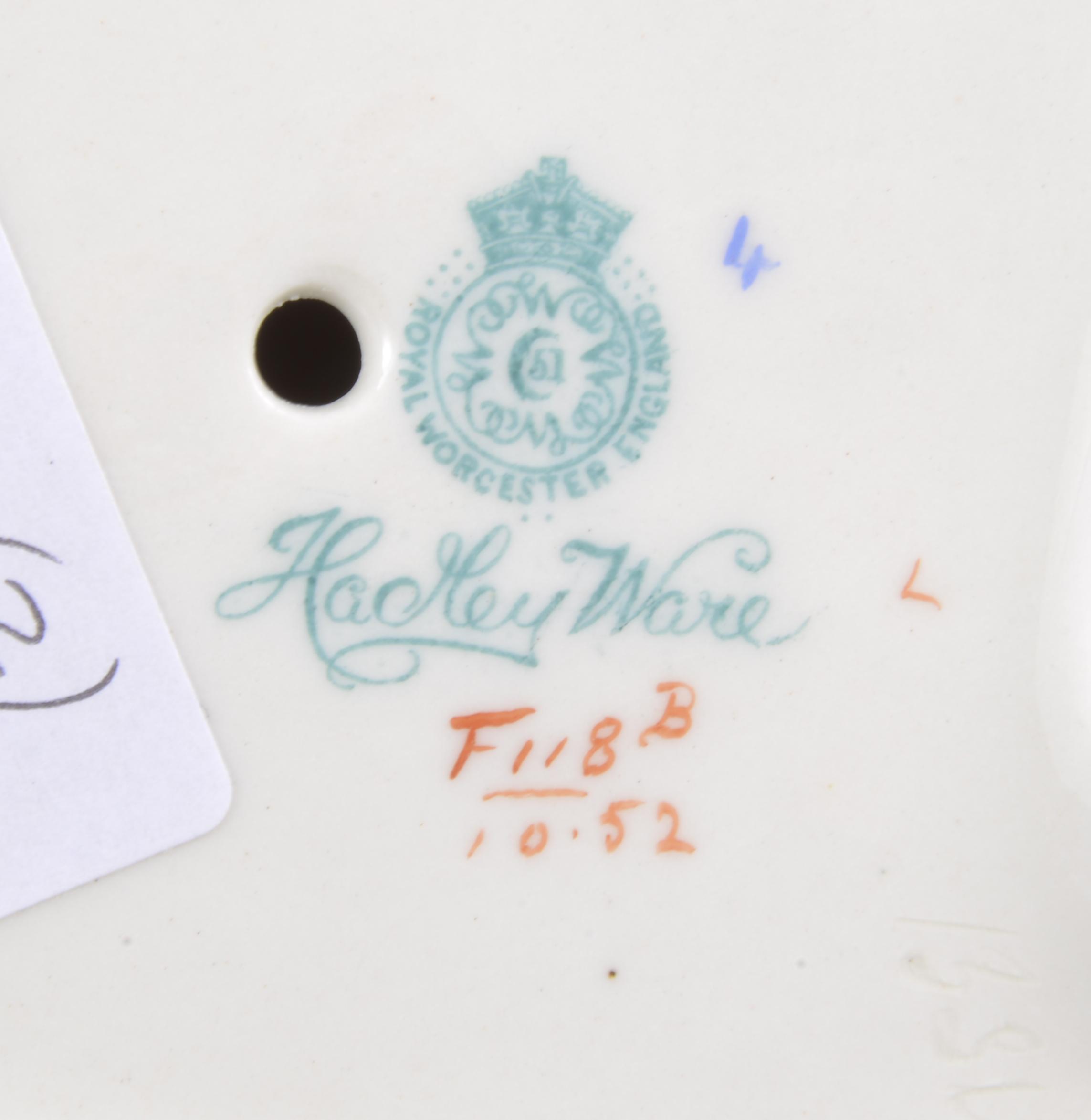 Lot 60 - A Royal Worcester Hadley Ware cache pot, c1905