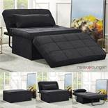 Relax Lounger Multi Position Fabric Ottoman sofa bed, looks in very good condition, RRP Circa £199.