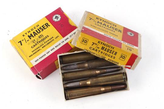 S1 10 x 7x57 Mauser soft nose bullet 150gr cartridges