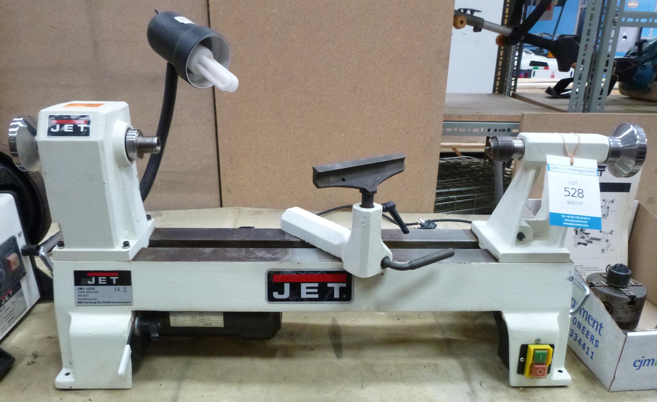 Jet Jwl 1220 Wood Lathe 240v And Box Of Tooling