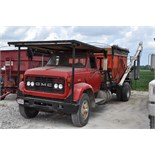 1972 GMC single axle truck, gas V-6, 5+2 trans, gravity box bed, hyd drive auger, Auger Mate power