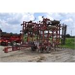 34' Willrich 3400 field cultivator, tandem axle, 5 bar spike tooth harrow