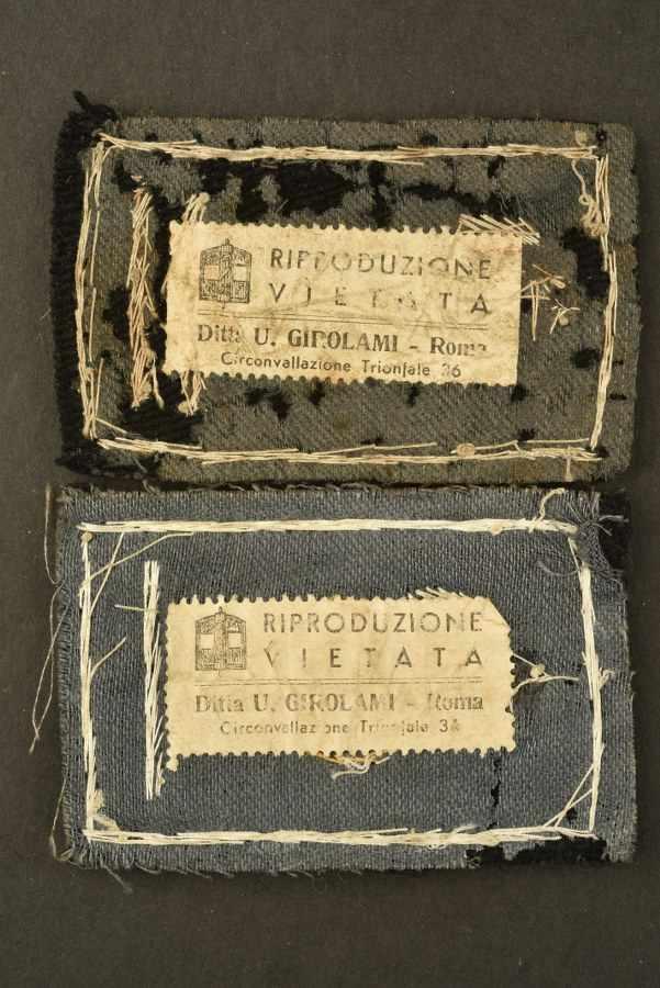 Ensemble de passementerie des Gioventu Italiana Del LitoriaComprenant deux insignes de grades brodés - Bild 2 aus 3