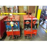 (1) HOBART TR300 & (1) HOBART TR400 TIG WELDERS W/CARTS, CUT POWER CORDS