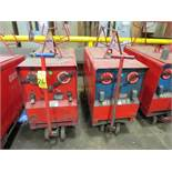 (2) HOBART TR300 TIG WELDERS W/CARTS, CUT POWER CORDS