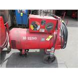 LINCOLN SAE 300 TIG WELDER W/ CART AND W/ WELDING LEADLINCOLN SAE 300 TIG WELDER W/ CART AND W/