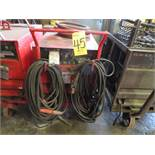 LINCOLN IDEALARC R3R-400 TIG WELDER W/CART & WELDING LEADS