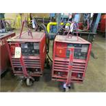 (2) LINCOLN IDEALARC R3R-500 TIG WELDERS W/CARTS