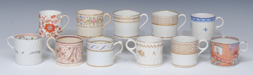 English Porcelain coffee cans, various makers, including