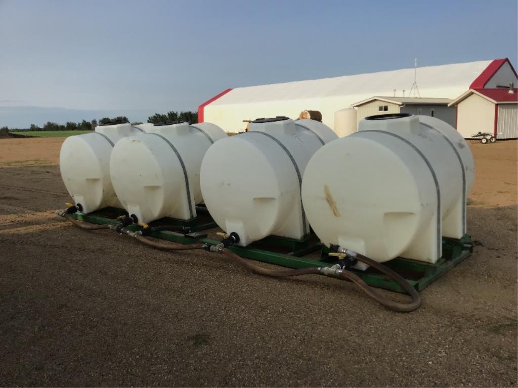 (4) 525g Water Tanks on Skid