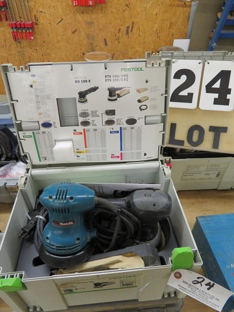 """Lot 24 - Festool Eccentric Sander & Makita 805001 5"""" Random Orbit Sander"""