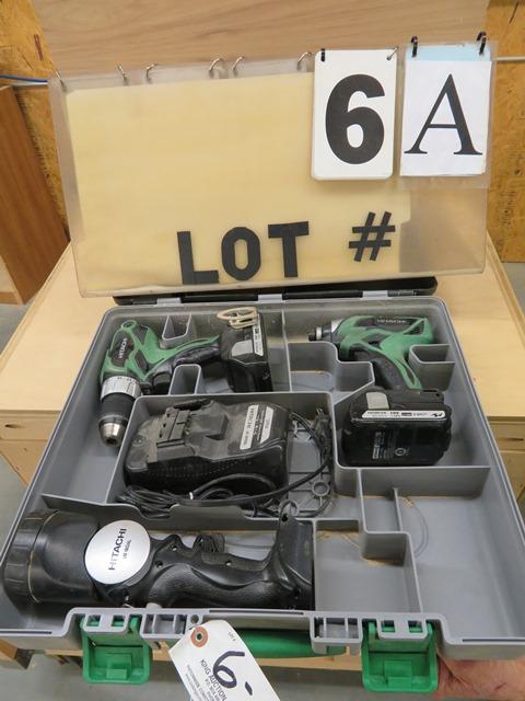 Lot 6a - Hitachi WH 18DSAL Cordless Impact Driver, DS 18DSA1 Cordless Drill Driver, UB 18 DA1 Light, UC