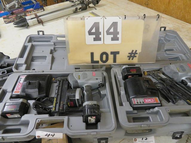 Lot 44 - SENCO 18-Gauge 12-Volt Airless Nailer & SENCO Air Free 41 14.4-Volt Nailer (Only (1) works)