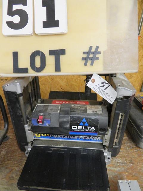 "Lot 51 - Delta Mdl. 22-560 12 1/2 x 6"" Portable Planer"