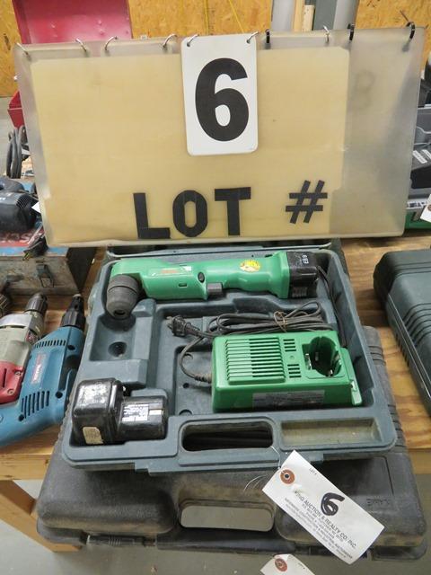 Lot 6 - Hitachi DN10DY 9.6-Volt Cordless Angle Drill