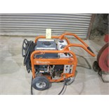 PRESSURE WASHER, HUSQVARNA, 3,300 PSI, gasoline engine, hose cart, wand & running gear