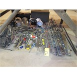 LOT OF HAND TOOLS, assorted  (under bench)