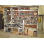 SHELF, w/pipe fittings, couplings, etc., assorted