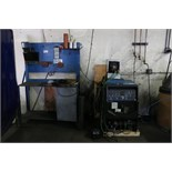 Miller SyncroWave 250 DX S/N MJ070810L with WeldTec Water Cooler and Work Bench