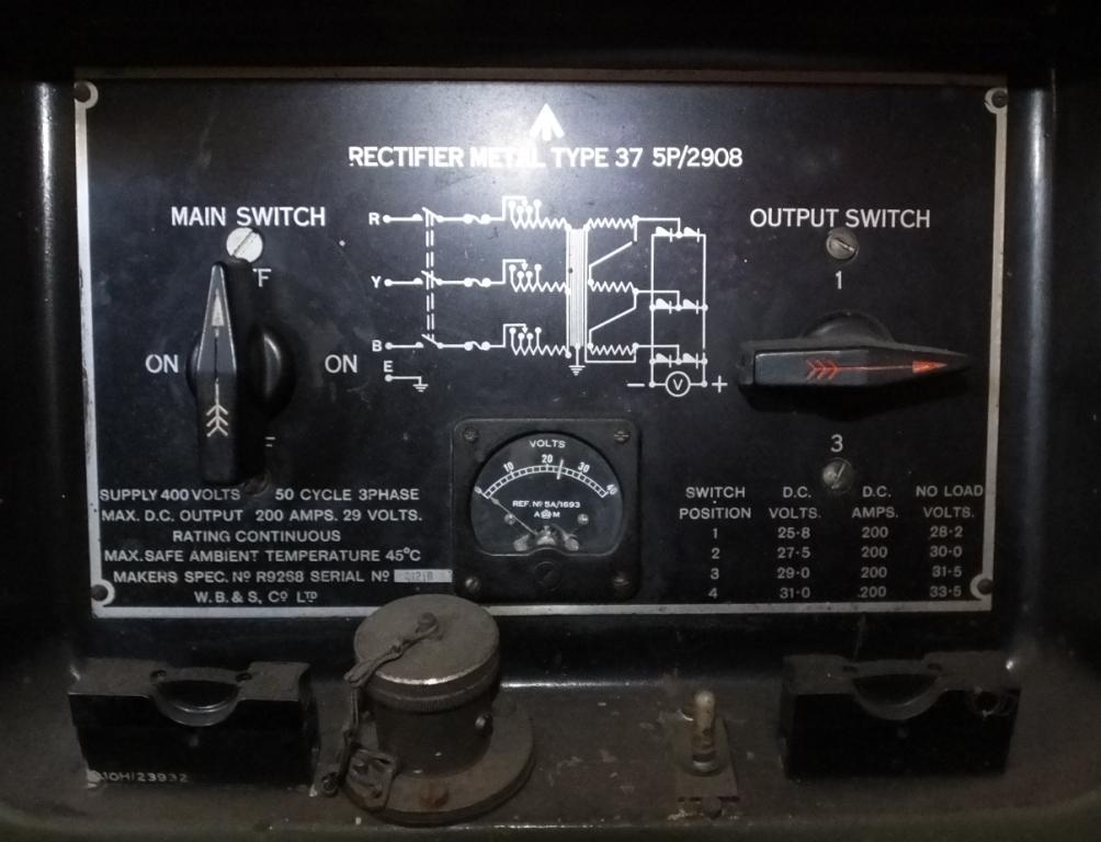 Lot 12 - Rectifier Metal Type 37 5P/2908 - 400V - 3 phase