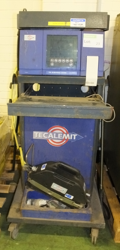 Lot 23 - Tecalemit TD Dismoke 5430 diagnostic trolley