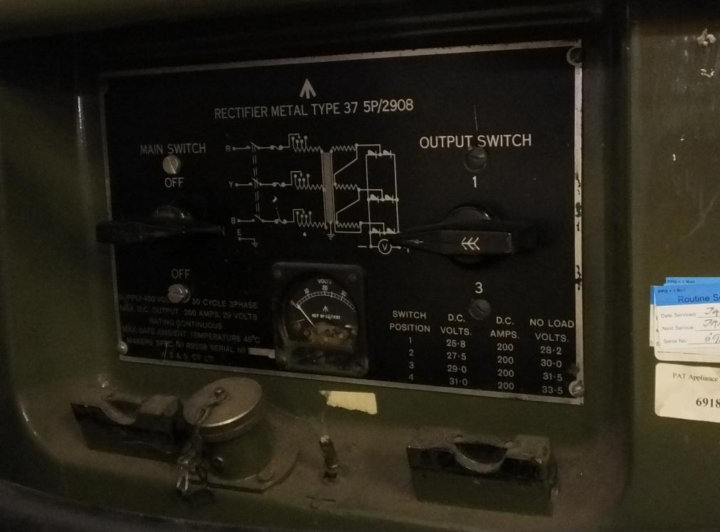 Lot 14 - Rectifier Metal Type 37 5P/2908 - 400V - 3 phase