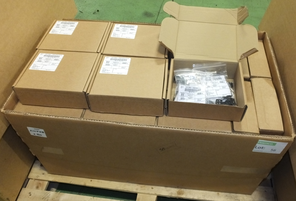 Lot 56 - Scott Health & Safety Ltd Buckle sets NSN 5340-99-968-8715 - 10x packets per box - 50 boxe