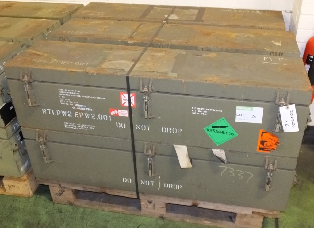 Lot 26 - 6x Gas cannister storage boxes NSN 1325-01-440-9152