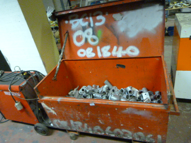 Lot 3 - *Large Tool Box Containing a Quantity Scaffolding