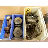 LOT WIRE BRUSHES & GRINDING WHEELS