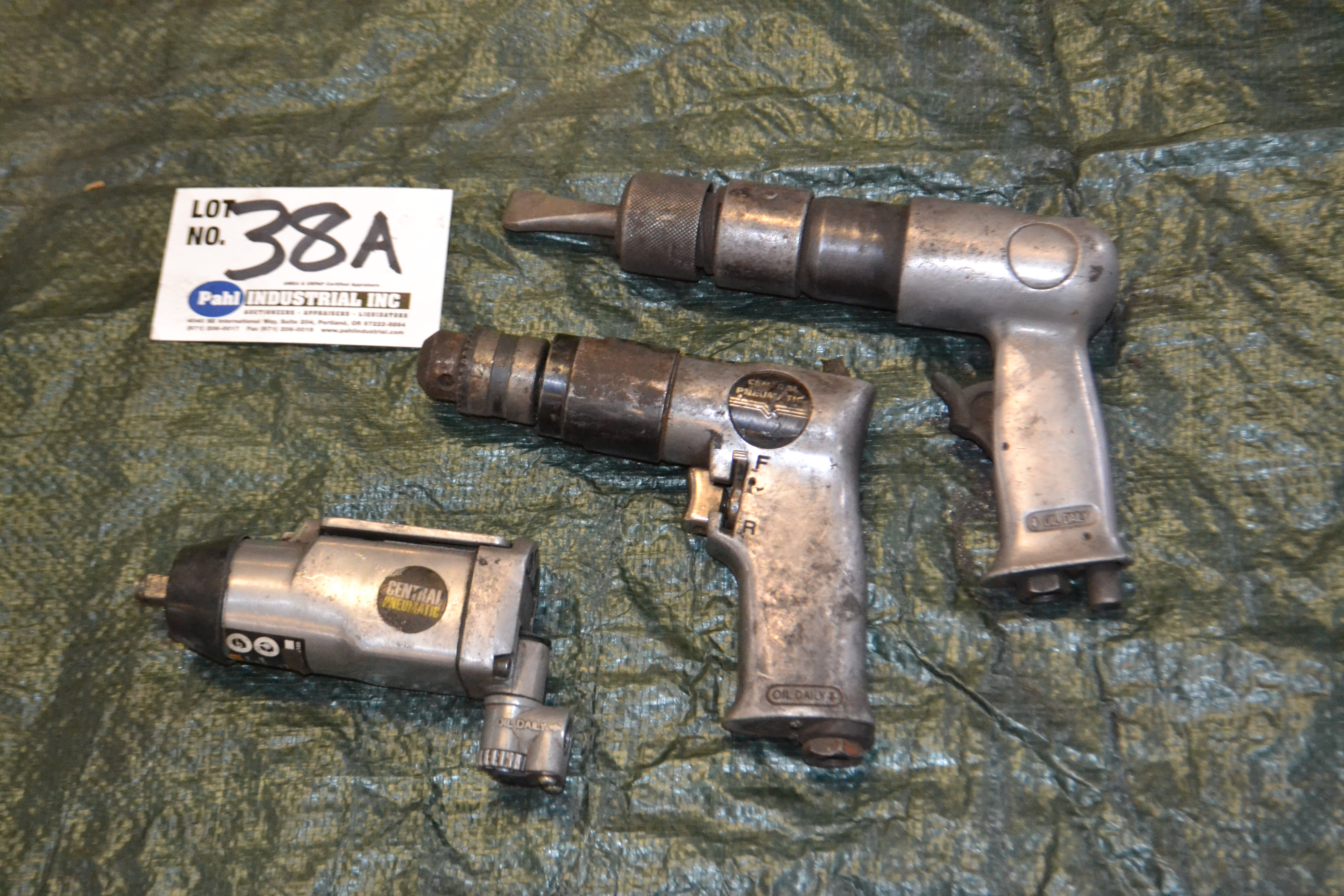 Lot 38A - (2) Pneumatic Reversible Air Drills and Air Hammer
