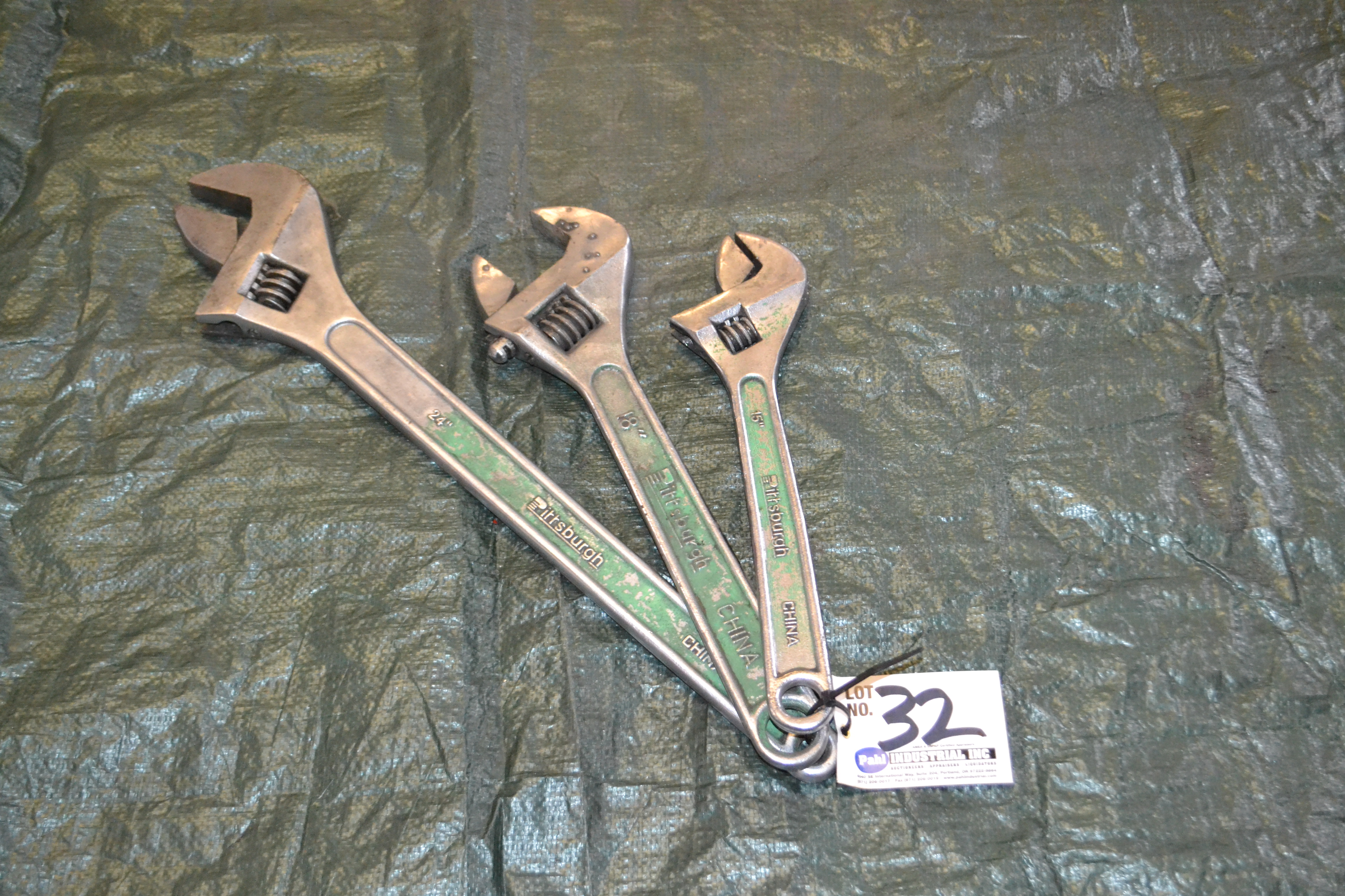 "Lot 32 - 15"", 18"", 24"" Crescent Wrenches"