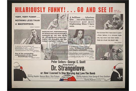 A Style B Credits Quad Poster For This 1964 Satirical Take On