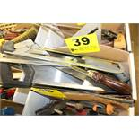 ASSORTED HAND SAWS IN BOX