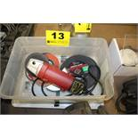 """TOOL SHOP 4-1/2"""" RIGHT ANGLE GRINDER WITH WHEELS PLUS ABRASIVE CUTTING BLADES IN BOX"""