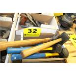 ASSORTED HAMMERS AND MALLETS IN BOX