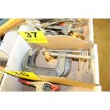 """ASSORTED 4"""" C-CLAMPS IN BOX"""